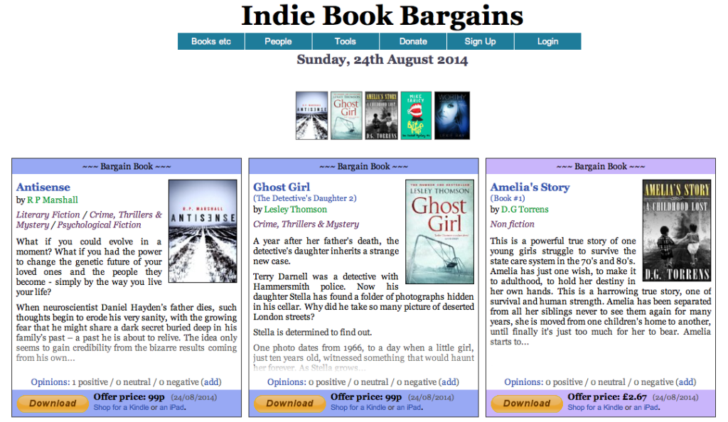 indie book bargains aug 2014